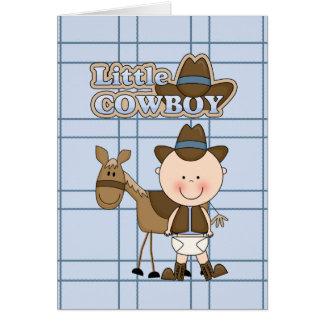 Kleine Cowboy-Karte BabyShower, neues Baby, Glückw Grußkarte