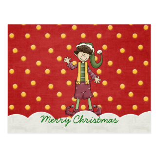 Kleine Elf-Weihnachtspostkarten Postkarte