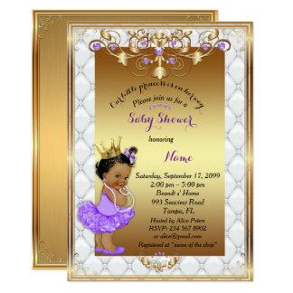 Kleine etnic Prinzessin, Babyparty-Einladung, Gold Karte