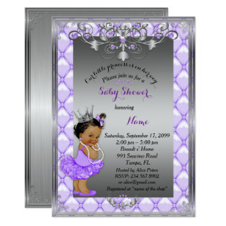 Kleine etnic Prinzessin, Babyparty laden ein, Karte