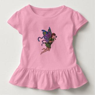 Kleine Fee - rosa Kleinkind-Rüsche-T-Stück Kleinkind T-shirt