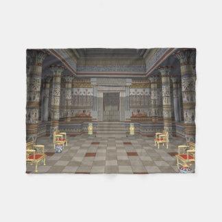 Kleine Fleece-Decke alter Ägypter-Halls Fleecedecke