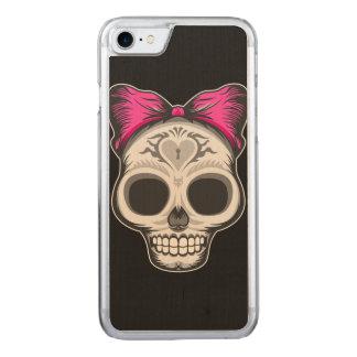Kleine Frau Sugar Skull Carved iPhone 8/7 Hülle