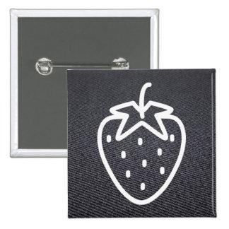 Kleine Frucht-Ikone Quadratischer Button 5,1 Cm