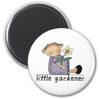 Kleine Gärtner-T-Shirts und Geschenke Runder Magnet 5,7 Cm