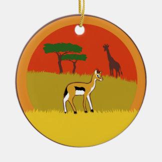 Kleine Gazelle Keramik Ornament
