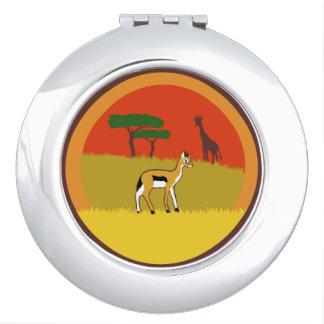 Kleine Gazelle Schminkspiegel