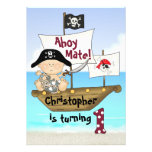 Kleine Geburtstags-Piraten-Einladung Buccaneer 1.