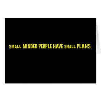 Kleine gekümmerte Leute machen kleine Pläne Karte