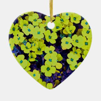 Kleine gelbe Blumen Keramik Ornament