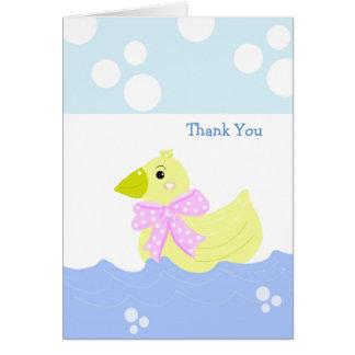 Kleine gelbe Ente danken Ihnen Karte