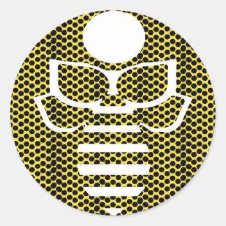 Kleine gelbe Tupfen-Biene Runder Aufkleber