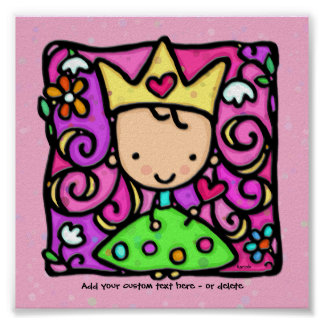 Kleine Girly Prinzessin Pink Personalized Print Poster