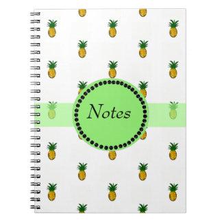 Kleine goldene Ananas Notizblock