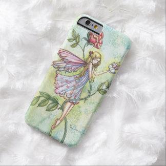 Kleine Häschen-und Rosen-feenhafte Fantasie-Kunst Barely There iPhone 6 Hülle