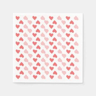 Kleine Herz-Servietten Papierservietten