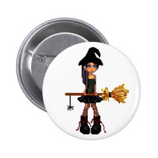 Kleine Hexe Runder Button 5,7 Cm