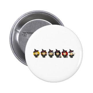 Kleine Hexen Runder Button 5,1 Cm