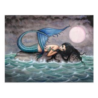 Kleine Insel-Meerjungfrau-Postkarte