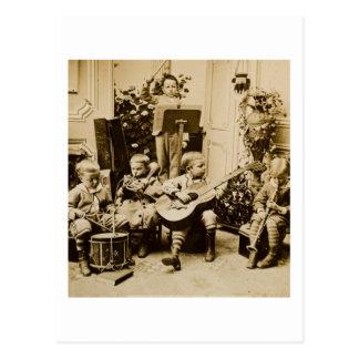Kleine Jungen-Orchester - Vintages Stereoview Postkarte