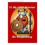 Kleine Kriegers-Geburtstags-Karte