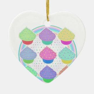 Kleine Kuchen Keramik Herz-Ornament