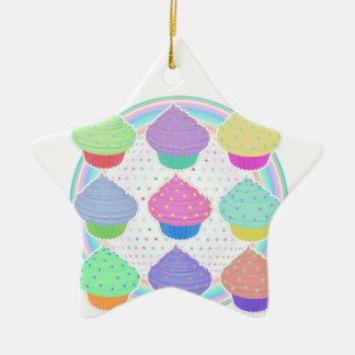 Kleine Kuchen Keramik Stern-Ornament