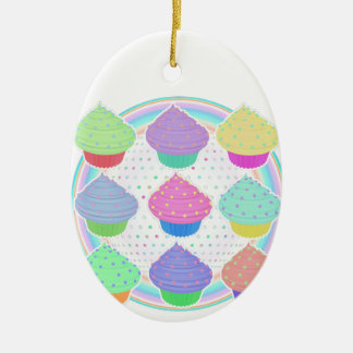 Kleine Kuchen Ovales Keramik Ornament