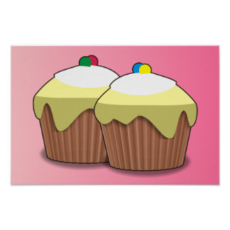 Kleine Kuchen Posterdrucke