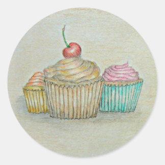 kleine Kuchen Runder Aufkleber