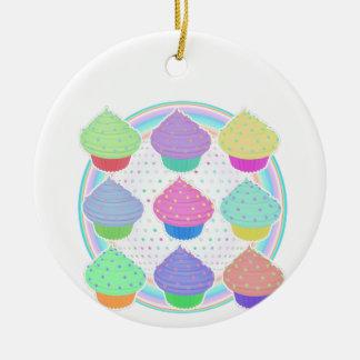 Kleine Kuchen Rundes Keramik Ornament