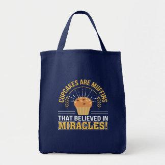 Kleine Kuchen sind Muffins geglaubte Wunder Tragetasche