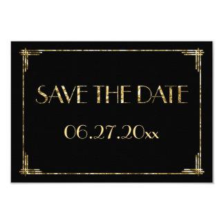 Kleine Kunst-Deko-Goldfolie, die Save the Date Karte