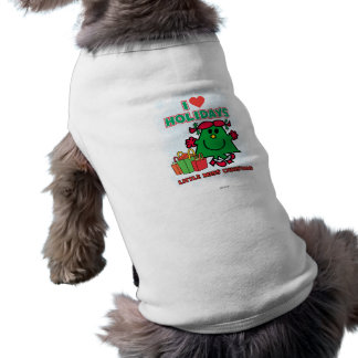 Kleine Liebe-Feiertage Fräulein-Christmas | I Ärmelfreies Hunde-Shirt