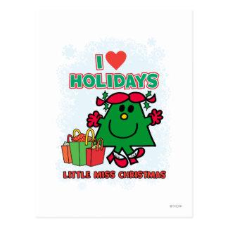 Kleine Liebe-Feiertage Fräulein-Christmas | I Postkarten