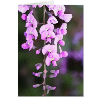 Kleine lila Blume Karte