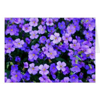 Kleine lila Blumen danken Ihnen Grußkarte