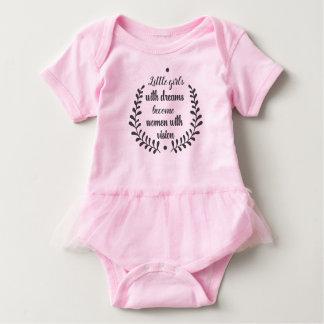 Kleine Mädchen mit Träumen Baby Strampler