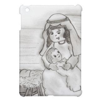 Kleine Mary und Baby Jesus - Skizze iPad Mini Hülle