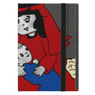 Kleine Mary und Jesus in Rotem und in Blauem iPad Mini Etuis