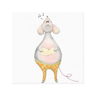 Kleine Maus Freddy singt Leinwanddruck