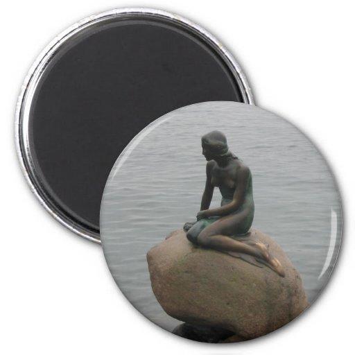 Kleine Meerjungfrau Kopenhagen Kühlschrankmagnet