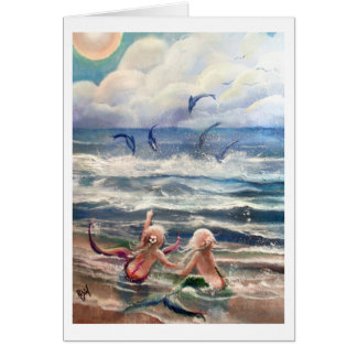 kleine Meerjungfrau-und Delphin-Karte Karte