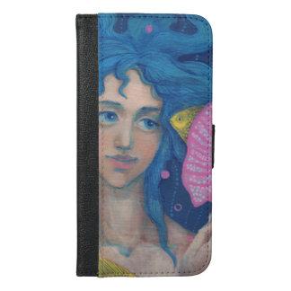 Kleine Meerjungfrau, Unterwasserphantasie-Kunst, iPhone 6/6s Plus Geldbeutel Hülle