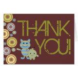 Kleine Monster danken Ihnen Babyparty-Anmerkungs-K Karte