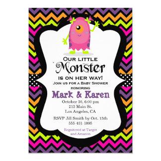 Kleine Monster-Halloween-Babyparty-Einladung 12,7 X 17,8 Cm Einladungskarte