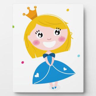 Kleine niedliche Prinzessin Blau Fotoplatte