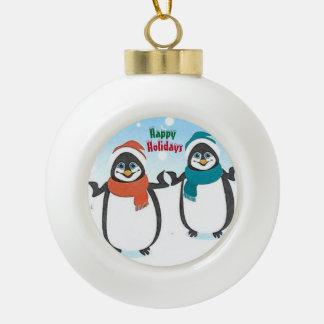 Kleine Pinguin-Ball-Verzierung Keramik Kugel-Ornament