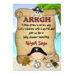 Kleine Piraten-Babyparty-Einladung für Jungen