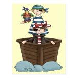 Kleine Piraten Postkarte